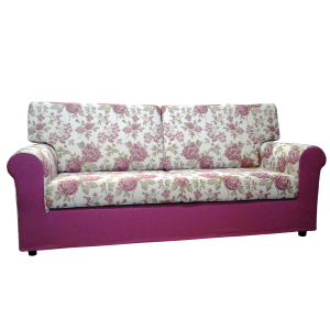 divano fantasia floreale
