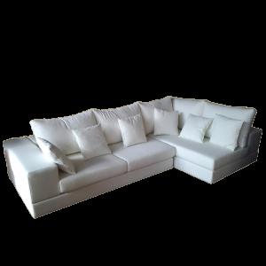 vendita divano angolare ampie dimensioni bianco